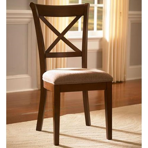 AAmerica Desoto Transitional X-Back Side Chair