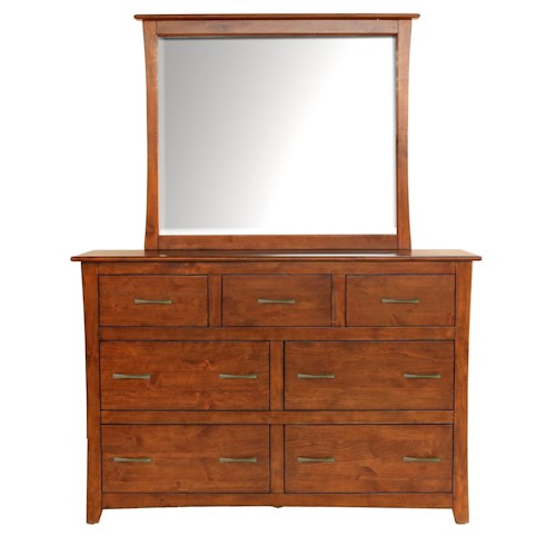 AAmerica Grant Park 7 Drawer Dresser & Mirror Set