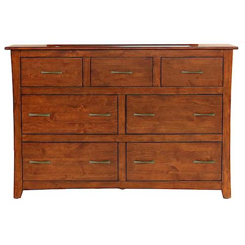 AAmerica Grant Park 7 Drawer Dresser
