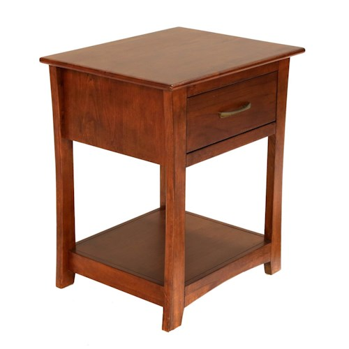 AAmerica Grant Park One Drawer Nightstand