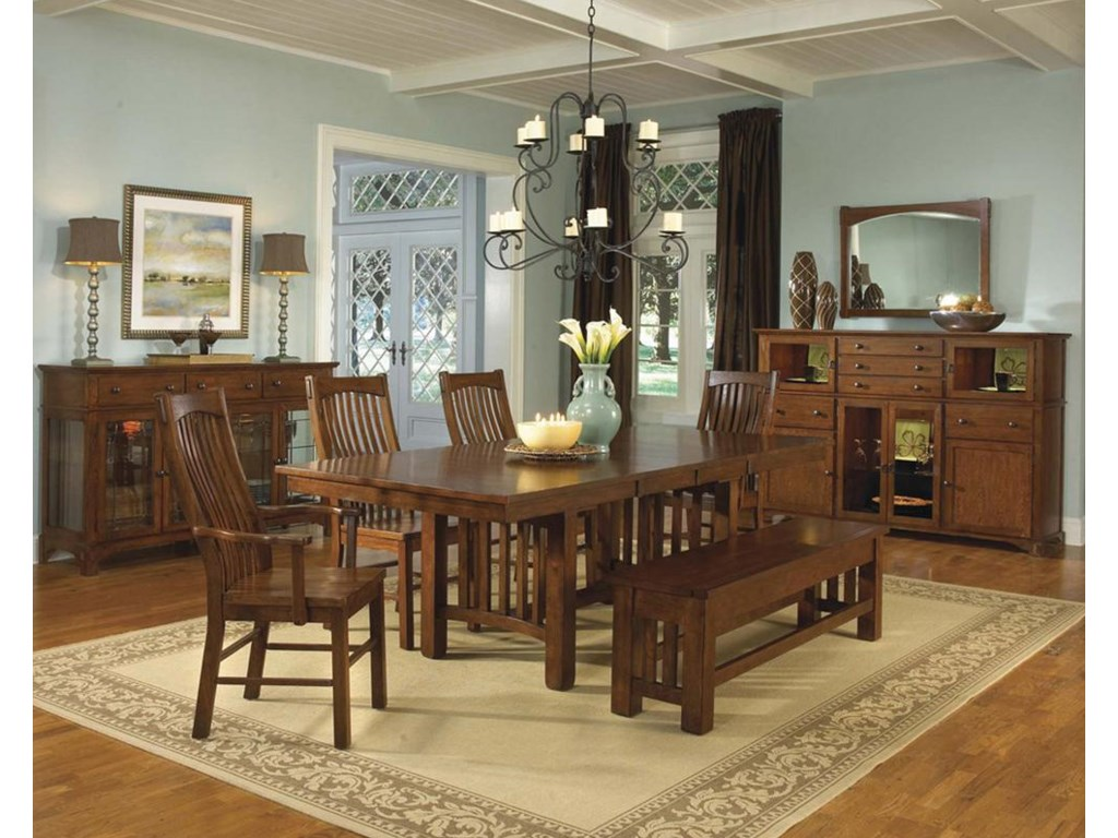 Shown with Buffets, Dining Table, and Chairs