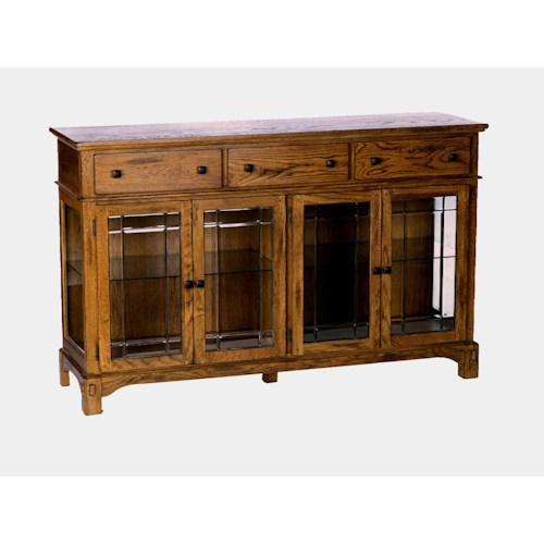 AAmerica Laurelhurst Glass-Front Wide Buffet