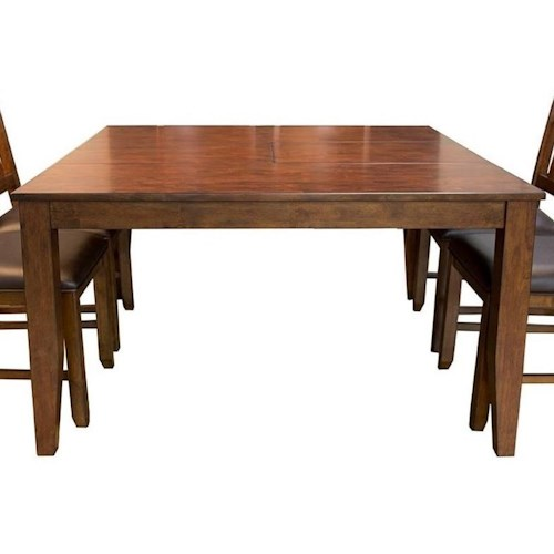 Aamerica Mason Square Butterfly Leaf Dining Table