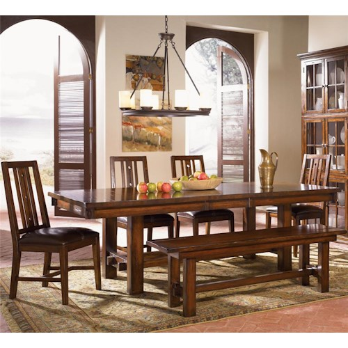 AAmerica Mesa Rustica Six Piece Table & Chair Set
