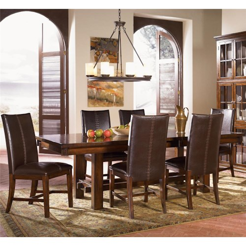 AAmerica Mesa Rustica 7 Piece Table & Chair Set