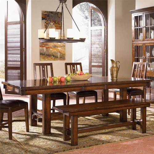 AAmerica Mesa Rustica Trestle Dining Table