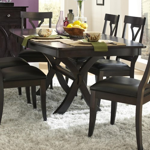 AAmerica Midtown Trestle Table with 18 Inch Butterfly Leaf