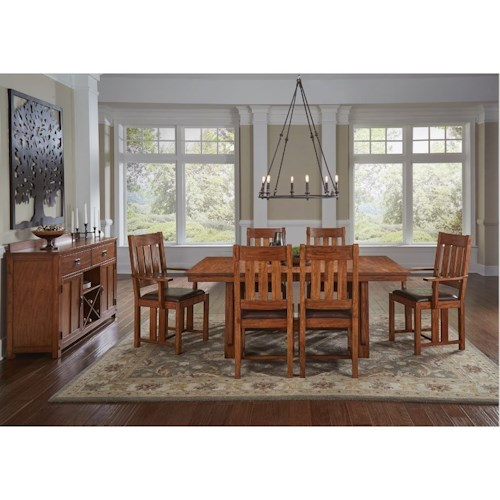 Aamerica Mission Hill Formal Dining Room Group Fashion Furniture Formal Dining Room Groups