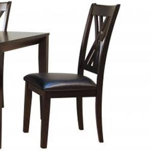 AAmerica Montreal Dining Room Side Chair w/ Upholstered Seat