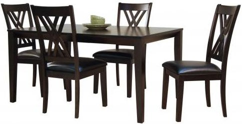 Double X Back Side Chair Shown with Rectangular Leg Table