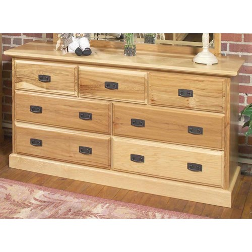 AAmerica Amish Highlands 7 Drawer Dresser