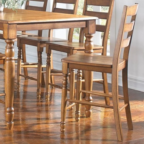 AAmerica Roanoke Ladderback Counter Height Dining Stool
