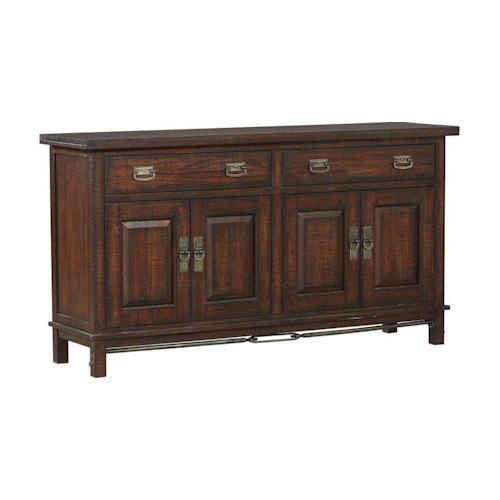 AAmerica Sundance Occ 4-Door Dining Buffet with Removable Wine Rack