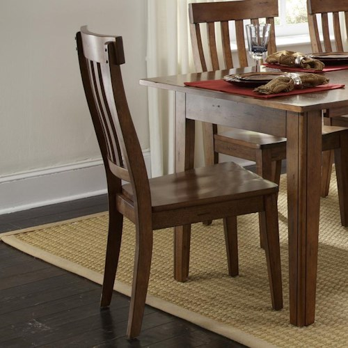 AAmerica Toluca Solid Wood Slat-Back Side Chair