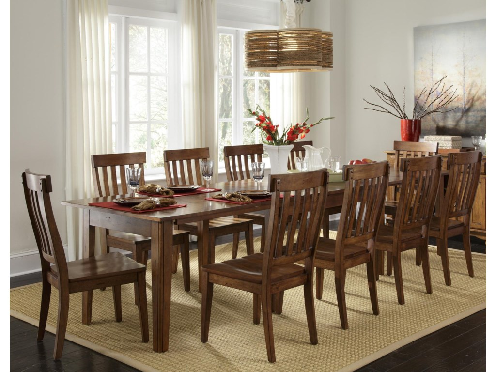 Shown with Slat Back Side Chairs & Server
