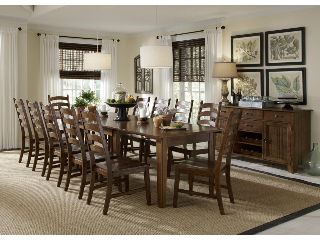 Shown with Ladder Back Side Chairs & Server