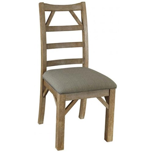 AAmerica West Valley Rustic Casual Dining Side Chair