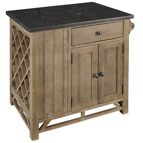 AAmerica West Valley Rustic Casual Chef's Kitchen Island