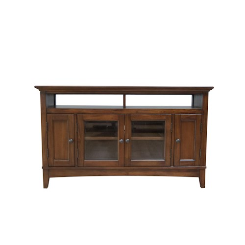 AAmerica Westlake 52 Inch Wide TV Console with Door Cabinets