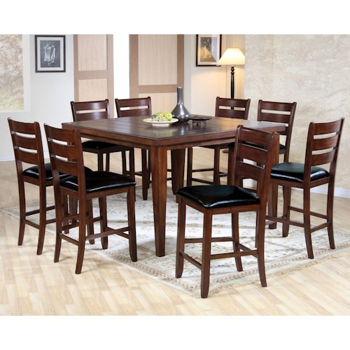 Acme Furniture 00680 9 Piece Counter Height Dining Set