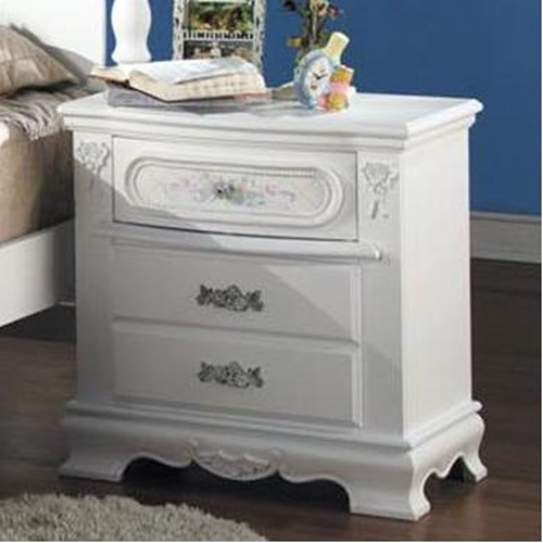 Acme Furniture 01660 Night Stand w/ 3 Drawers