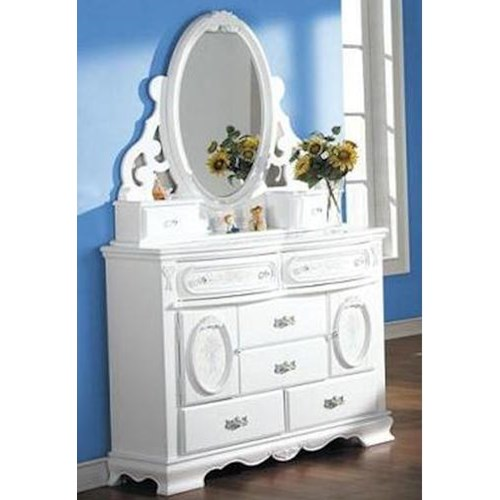 Acme Furniture 01660 Door Dresser w/ Mirror