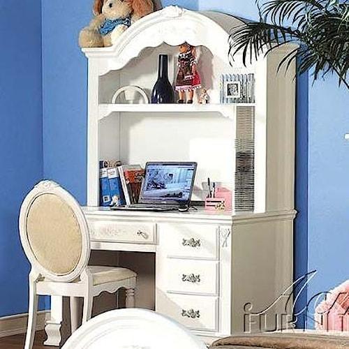 Acme Furniture 01660 Pedestal Desk w/ Hutch