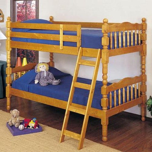 Acme Furniture 02301 Youth Bunk Bed with Classic Spindle Accents
