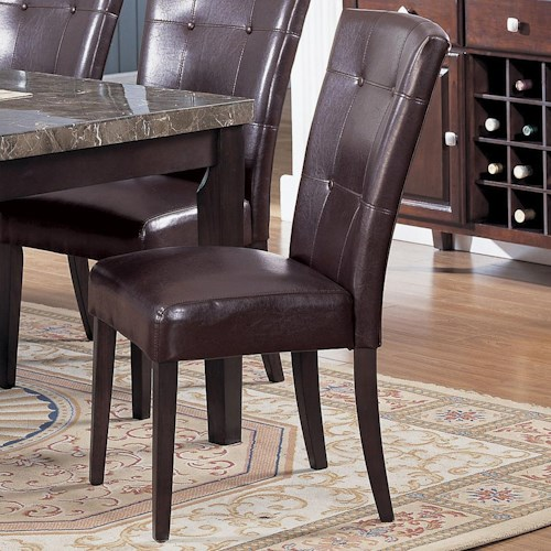 Acme Furniture 7058 Bycast Side Chair with Upholstered Seat and Back