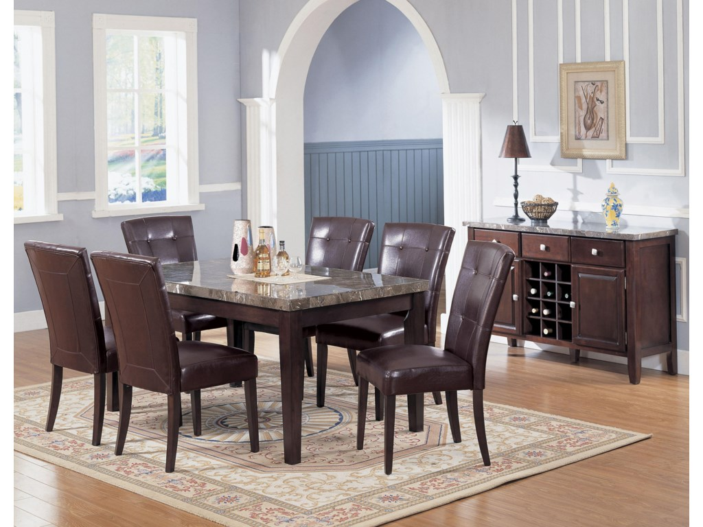 Shown in Dining Room with Complimenting Bycast Side Chairs and Buffet
