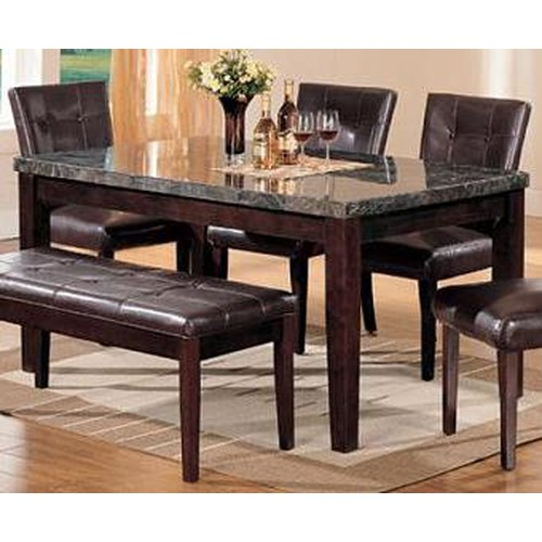 Acme Furniture Canville Rectangular Dining Table with Marble Top