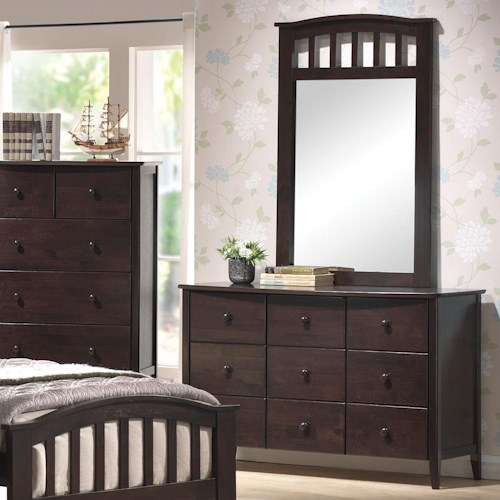 Acme Furniture San Marino Youth Dresser & Mirror Combo