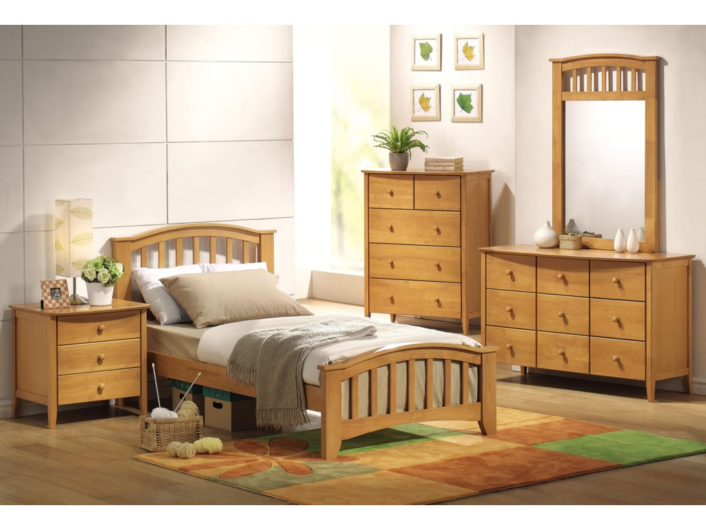 Shown with Nightstand, Dresser, Chest & Bed
