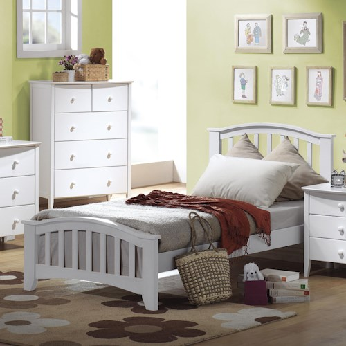 Acme Furniture San Marino Twin Slatted Headboard & Footboard Bed
