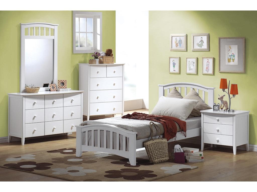 Shown with Dresser, Mirror, Bed & Chest