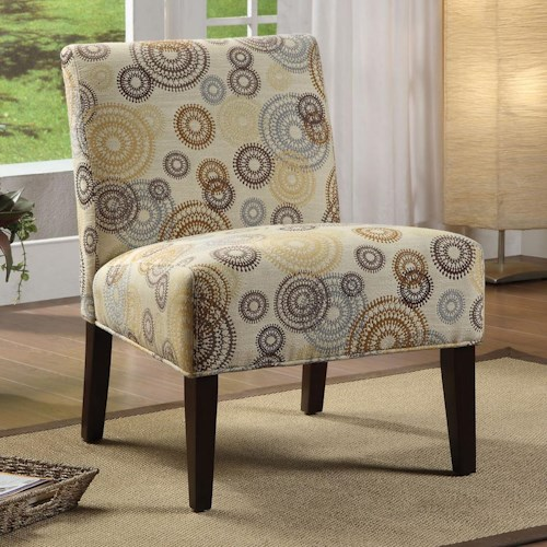 Acme Furniture Aberly Accent Chair in Multicolor Circular Motif