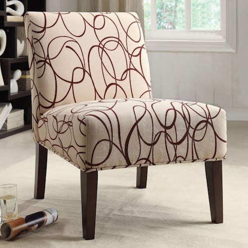 Acme Furniture Aberly Accent Chair in Abstract Geometric Print