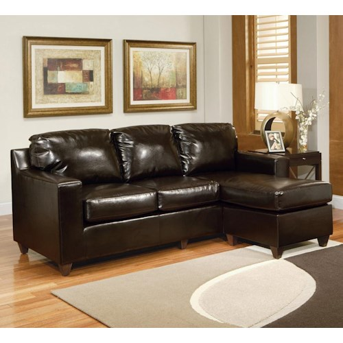 Acme Furniture Sectionals Sectional Sofa with Right Arm Facing Chaise