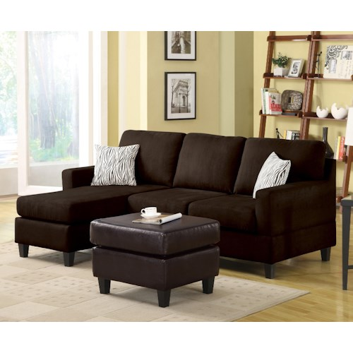 Acme Furniture Sectionals Sectional Sofa with Left Arm Facing Chaise