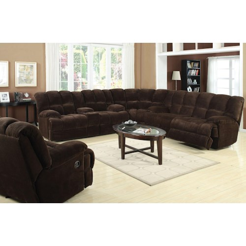 Acme Furniture Ahearn Casual Sectional Sofa