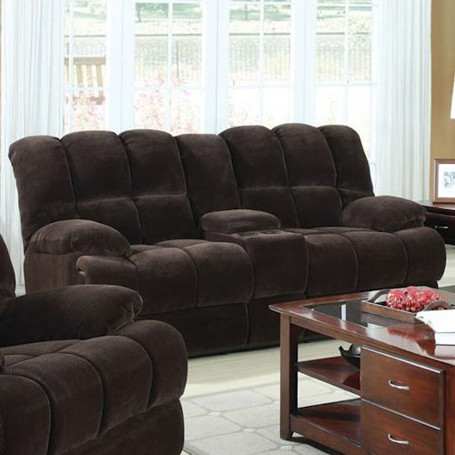 Acme Furniture Ahearn Casual Loveseat with Motion & Console