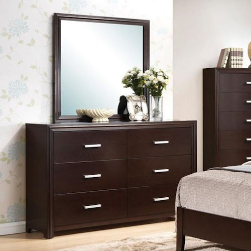 Acme Furniture Ajay Dresser & Square Mirror