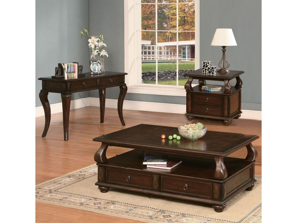 Shown with Coordinating Collection Cocktail Table. Matching Console Table Also Pictured.