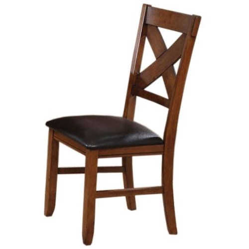 Acme Furniture Apollo X-Back Dining Side Chair with PU Upholstered Seat
