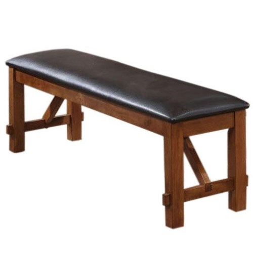Acme Furniture Apollo Dining Bench with PU Upholstered Seat