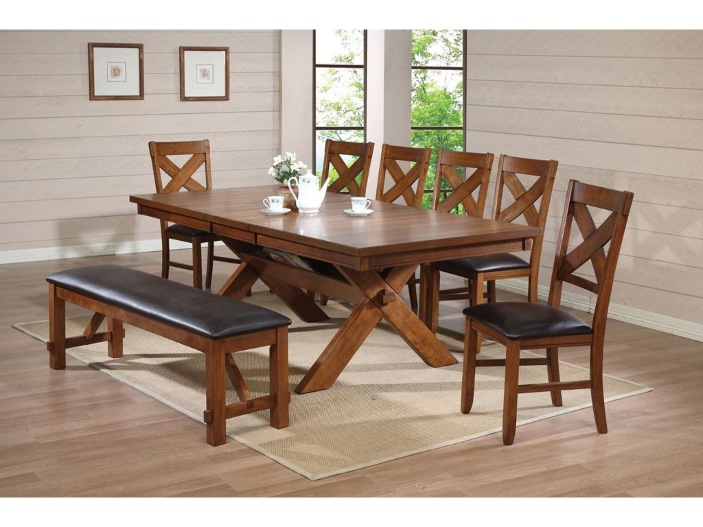 Shown with Dining Side Chair and Trestle Table