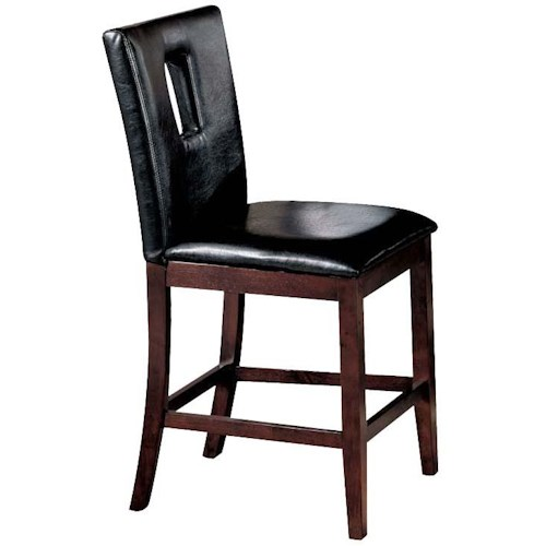 Acme Furniture Baldwin Upholstered Counter Height Stool