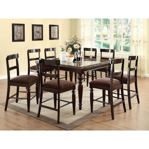 Acme Furniture Bandele Counter Height Dining Table and Chair Set