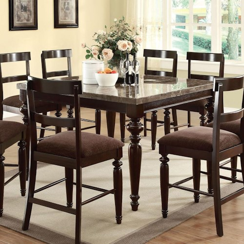 Acme Furniture Bandele Casual Counter Height Dining Table