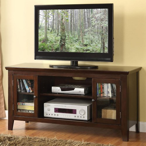 Acme Furniture Banee Espresso 2 Door TV Stand with 6 Shelves